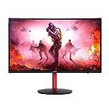 Monitor Gamer Acer Nitro XZ242Q 23.6' Curvo Full HD 144hz 4ms FreeSync Alto Falantes Ajuste de Altura