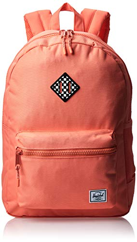 Herschel Kids' Heritage Backpack, Fresh Salmon/Checkerboard Rubber, Youth X-Large 22L