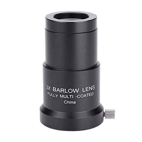 AYDQC 3X 1,25 Barlow-Linse, Fully mehrschichtige optische Linse hohe Durchlässigkeits Barlow-Linse mit Vollbeschichtung, Astronomie Teleskopokulares Barlow-Linse fengong