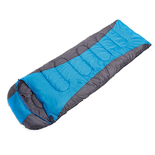 Yy.f Adulte Extérieur Ultra-léger Sac De Couchage Camping Portatif L'enveloppe Peut être épissé Simple Double Sac De Couchage Imperméable à L'eau,Blue-(190+30)*75cm(2.2kg)