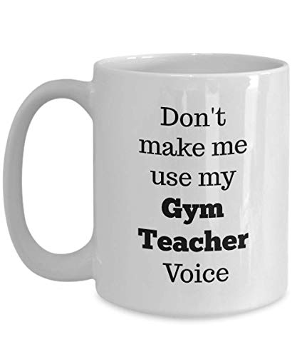 Taza De Café Don 'T Make Me Use My Gym Cher Voice Best Unique Birthday Ideas Office Blanco Personalizado 330Ml Taza De Té Novedad Taza De Café Porcelana Colorida Regalo De Cumpleañ