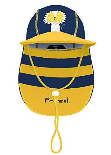 Foruhoo Baby Mütze UV-Schutz 50 mit Kordelzug for Jungen, Breite Krempe Sommerhut Sonnenhut, 51cm / 18-36 Monate, Gelber Löwe