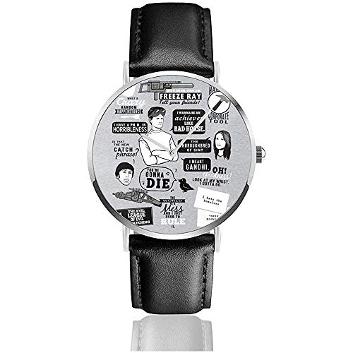 Unisexe Business Casual Horrible Quotes Dr Horribles Sing Along Blog Watches Quartz Leather Watch