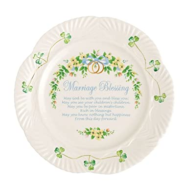 Belleek Marriage Blessing Plate, 9