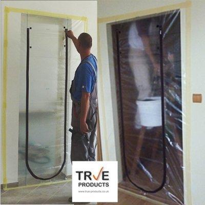True Products Folien-Staubschutztür mit Reißverschluss