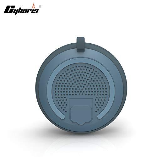 Waterdichte bluetooth-luidspreker, draadloos, draagbaar, 5 W luidsprekerbox, met 8 uur speeltijd, superieur geluid voor camping, strand en sport, zwembad, party douche Zilveren as