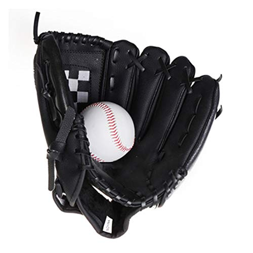 RAWL INGS Baseball Fanghandschuh, Junior High School Baseball Fanghandschuh wirft 11 Zoll in die rechte Hand, verdickt Umweltschutz PVC PU Handschuh Spiel Praxis Baseballhandschuh-black-11inches