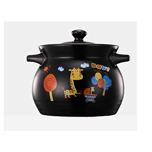 SCRFF Céramique Marmite, Stovetop Batterie de Cuisine en céramique, Soupe Marmite Pan Casserole Pot d'argile Pot de Terre sain Cocotte