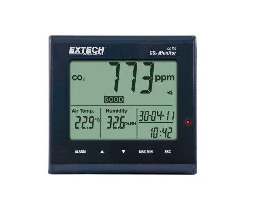 Extech Luftqualitäts- und Kohlendioxid-Monitor, 1 Stück, CO100