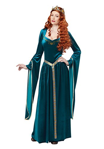 Women's Lady Guinevere Teal Costume Large