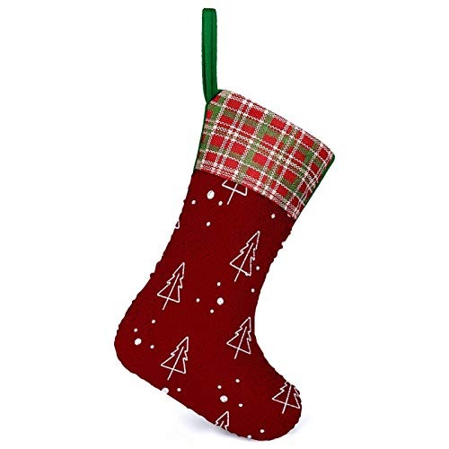Christmas Stockings Sequin Xmas Socks Merry Christmas Christmas Hanging Bags Decor Bling Socks Fireplace Tree Holiday Party Decoration Gifts
