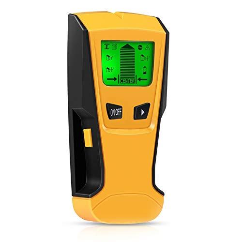 Detector de Pared,ZOTO 3 en 1 LCD Multifuncional Pared Detector de Metal Detección de cable de Escáner de Pared con Metal Tuberías,Madera y AC Cable