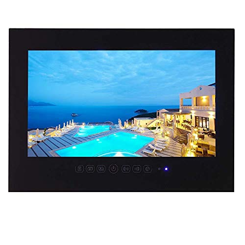 Save %32 Now! Elecsung Smart Black TV for Bathroom, Hotel, Kitchen 42 inch LED TV IP66 Waterproof wi...