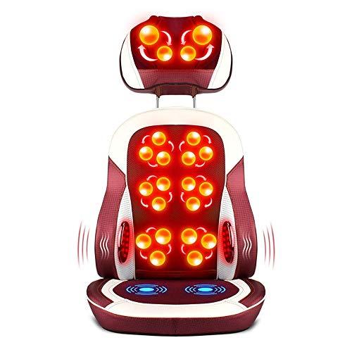 Vobajf Shiatsu Back Massager Regolabile in Altezza Shiatsu Neck And Back Massager con sedili riscaldabili for Massaggi 3 Motori vibranti Sedie e materassini per Massaggi elettrici