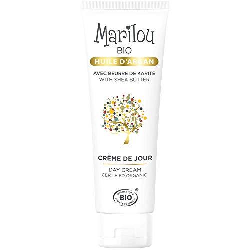 Marilou Bio - Gamme Argan - Crème de Jour à l'Huile d'Argan - Tube de 50 ml - Le Meilleur Allié des Peaux Sèches