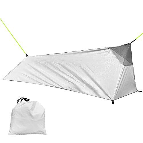 Lixada Tente de randonnée Camping en Plein air Sac de Couchage Tente Tente légère pour Personne Seule avec Filet
