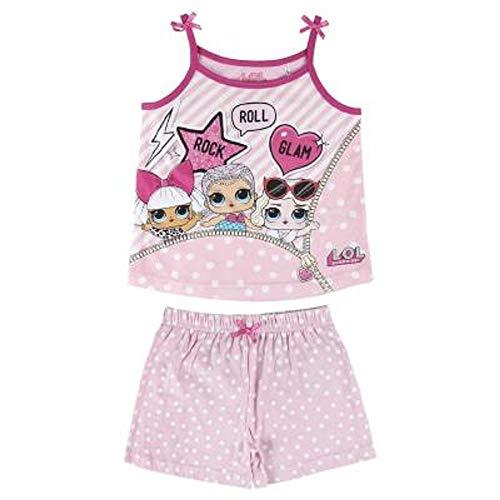 L.O.L Surprise Nachthemd oder Schlafanzug Puppen Confetti Pop für Mädchen LOL Baby Littles (7-8 Jahre, Glam Girls PJ)