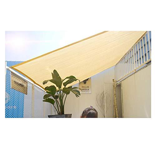 LSSB Solar Sombra Paño 90% UV Bloquear Respirable Anti-envejecimiento HDPE Beige Malla de Sombreo con Ojales para Cubierta de Plantas, Césped, Patio Trasero, Gazebo, Adaptable