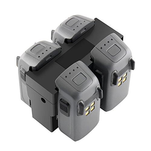 Tineer Cargador Paralelo rápido, estación Central de Cargador de batería múltiple cuádruple para dji Spark Drone
