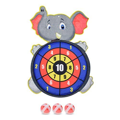 dfv Kinder Cartoon Dartscheibe Kinder Cartoon Sticky Target Ball Saugnapf Dart Ziel Kunststoff hängende Zielscheibe Kinder Schießspiel Zielscheibe #20 Kinder Freizeit Sport Zubehör (Farbe: A)