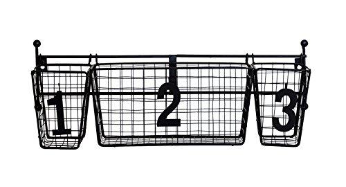 jmiles uh-ws229nummeriert hängende Aufbewahrung Korb System–Anpassbare Aufhängung Korb Aufbewahrung System mit Zahlen für einfache Organisation