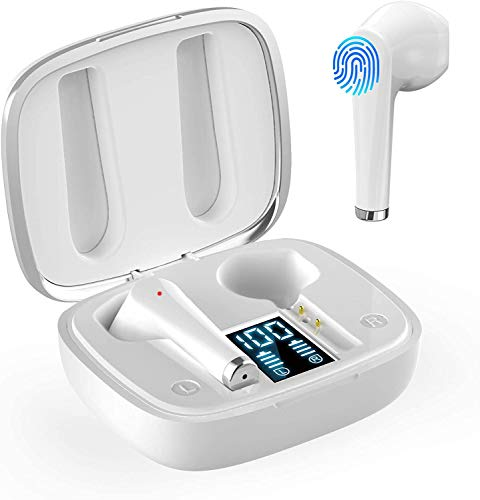 AMZLIFE Bluetooth Kopfhörer in Ear Kabellos Kopfhoerer True Wireless Bloototh 5.0 Headsets mit LED Digitalanzeige/Touch-Bedienung für iPhone Huawei Samsung Android Work Travel Gym