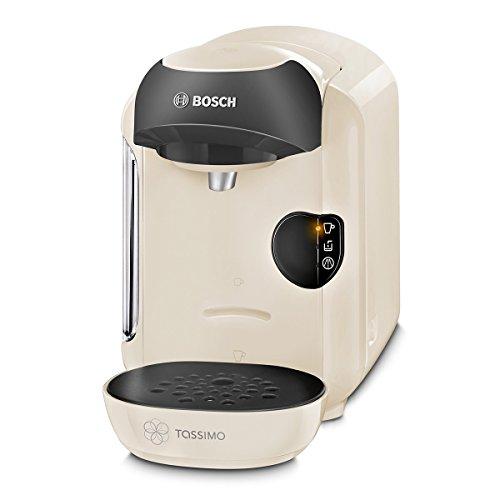 Bosch TAS1257 Tassimo Vivy Multi-Getränke-Automat, 1300 W, platzsparend, große Getränkevielfalt, cream