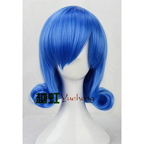 Anime Fairy Tail Frauen Juvia Loxar Cosplay Perücke Blau Kurzes lockiges synthetisches Haar Rollenspiel Perücke KostümeK081