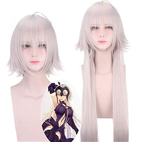 Anime Fate / Grand Order Jeanne D'Arc Alter Cosplay peluca Juana de Arco mujeres pelo sinttico fiesta de Halloween disfraz pelucas Cosplay