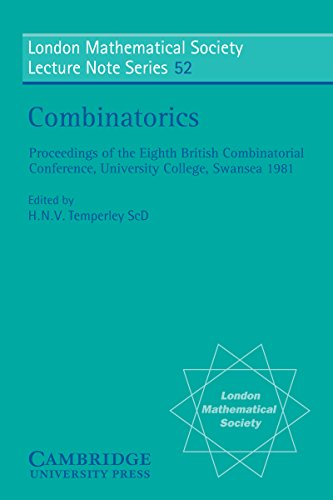 Combinatorics (London Mathematical Society Lecture Note Series Book 52) (English Edition)