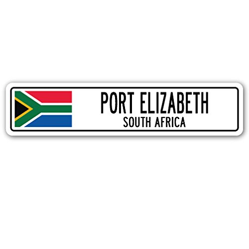 Port Elizabeth, South Africa Street Sign South African Flag City Country Gift