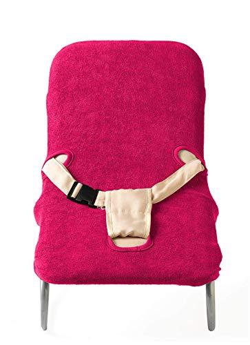 Briljant Baby - Bezug für Kinder Wippstuhl - 100% Frotte hochwertige Qualität - Fuchsia - Komfort und Schutz