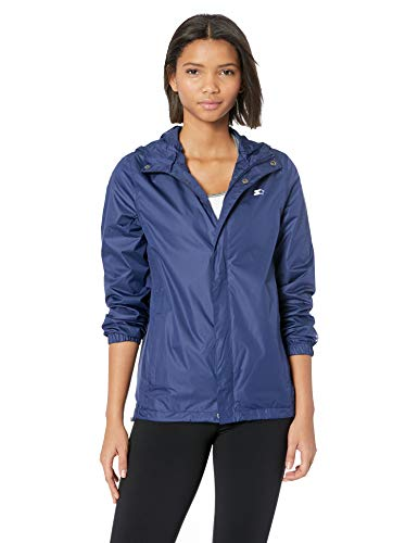 Womens Standard Waterproof Breathable Navy Blue Windbreaker Jacket