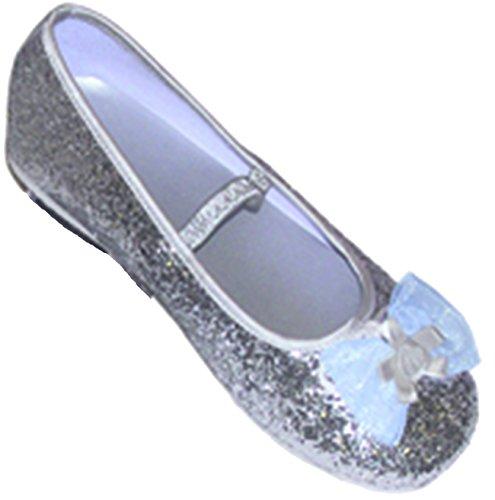 Travis - Chaussures Fille - Ballerines Pailletées. Taille 27 / 28. Couleur Argentée.