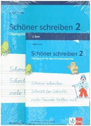 Schöner schreiben Schritt für Schritt, viele Freunde helfen mit: Übungsblätter für den Schreibunterricht, Vereinfachte Ausgangsschrift 2. Jahrgangsstufe + DIN A5 Übungsheft