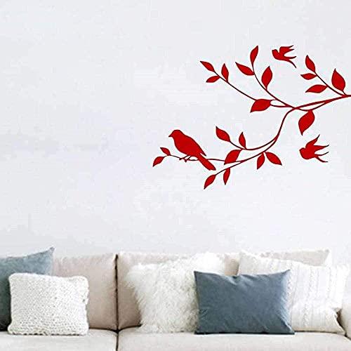 Pegatinas de pared con estilo Árbol pájaro Art Deco Cocina Vinilo Azulejo de pared Calcomanía Mural impermeable R 44x60 cm