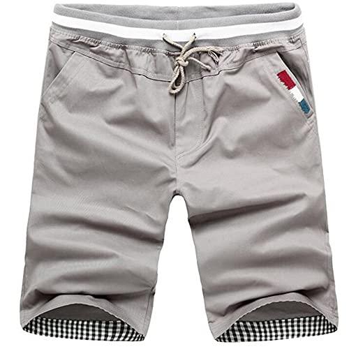 N\P Hombres Corto Jogger Pantalones Cortos Casuales de Verano de