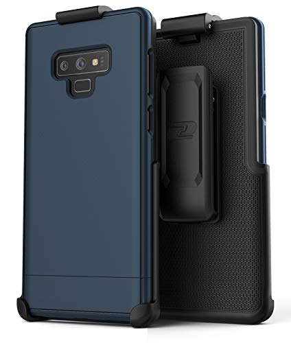 Encased Slimshield Belt Case for Samsung Galaxy Note 9 (2018) Ultra Slim Protective Hard Cover w/Holster Clip (Navy Blue)