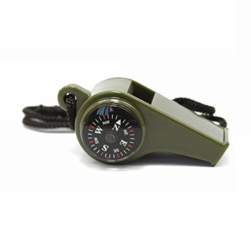 3 in1 Outdoor Camping Hiking Emergency Survival Gear Whistle Compass Thermometer by GG&G