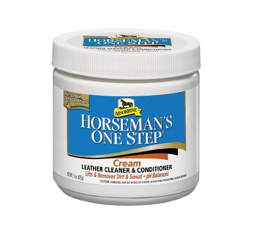 Absorbine Horseman's One Step Leather Conditioning 425g Cream - Combineert reiniging & conditionering in één stap