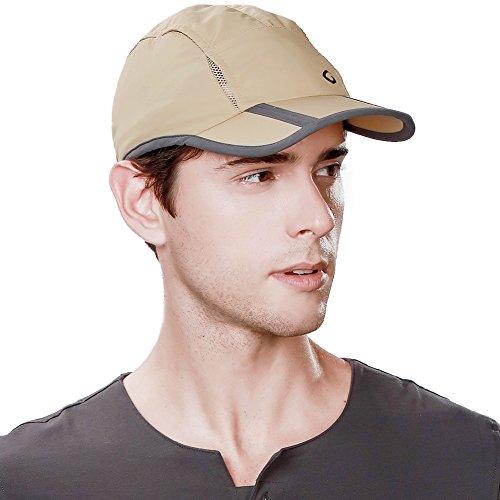 Gorra de béisbol para hombre UPF50 de secado rápido, plegable, tamaño libre, unisex - beige - Talla única