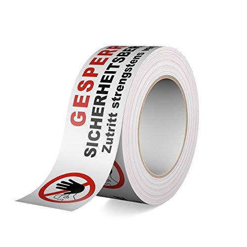 Gerband 404 - Warnband - Klebeband - Gesperrt Sicherheitsbereich! Zutritt strengstens verboten!