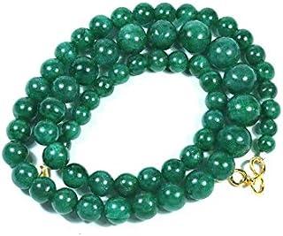 Zoya Gems & Jewellery AAA Grade Natural Emerald Jade Round Beads Emerald Smooth Beaded Necklace Emerald Gemstone Jewelry. ...