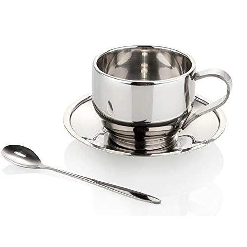 ERTERT Taza de café de Acero Inoxidable Taza de Aislamiento de Calor Inoxidable