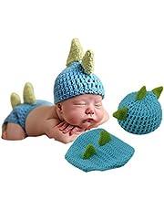 Disfraz de punto de ganchillo para recién nacido, para fotografía de 0 a 12 meses, con juguete gratuito