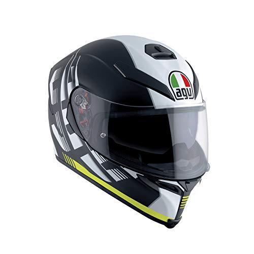 AGV Casco Moto K-5S E2205Multi plk, darkstorm Matt Black/Yellow, XL