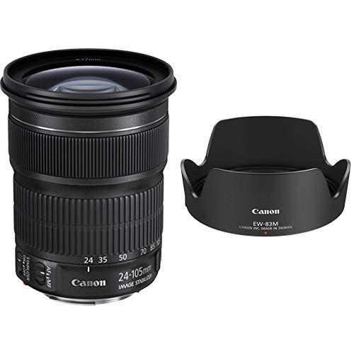 Canon EF 24-105 mm 1:3,5-5,6 IS STM Objektiv & Gegenlichtblende EW-83M