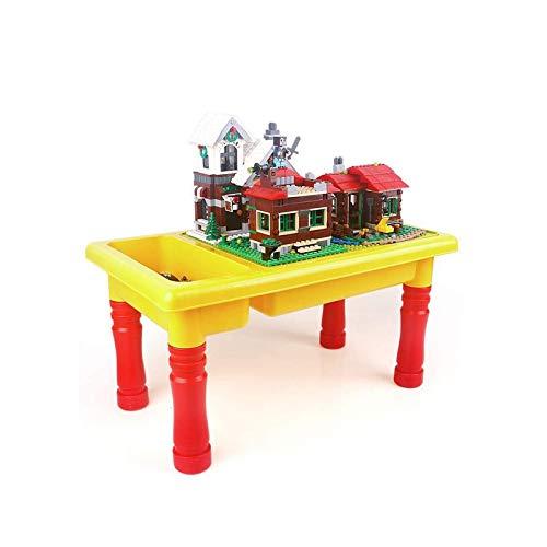 JTKDL Mesa de Actividad, Mesa de Agua, Mesa de Arena y Edificio trae Mucho diversión para niños pequeños y niñas
