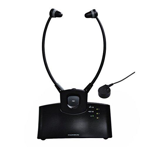 Preisvergleich Produktbild Thomson Stereo Funk Kopfhörer WHP5305BK TV / HIFI (getrennte Lautstärkeregelung,  Ladestation,  Kinnbügel,  bis zu 120dB