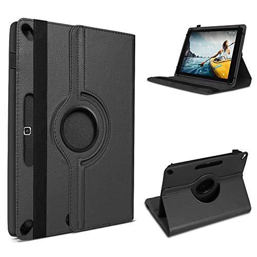 UC-Express Schutzhülle kompatibel für Medion Lifetab P10713 P10712 P10710 Tablet Hülle Tasche Cover 360° Drehbar, Farbe:Schwarz